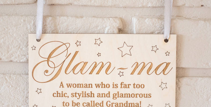 Glam-Ma Wooden Sign