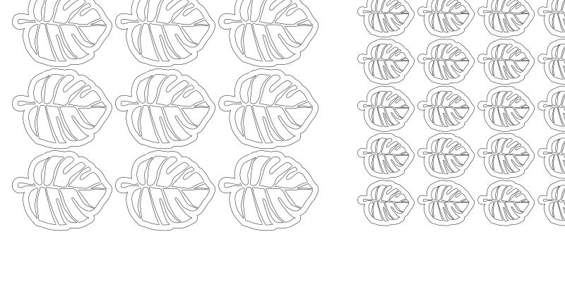 Leaf Design Paper Cutouts