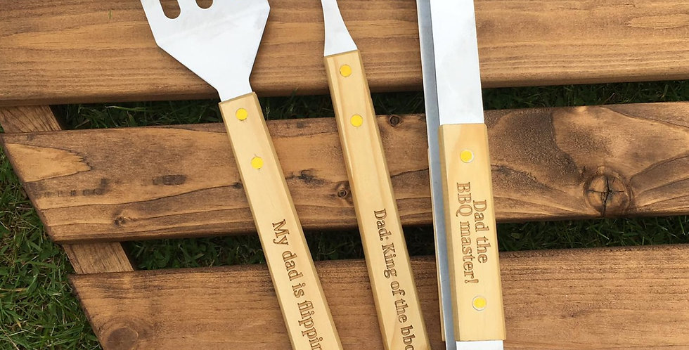 BBQ Tools - Personalised 3 Piece Set