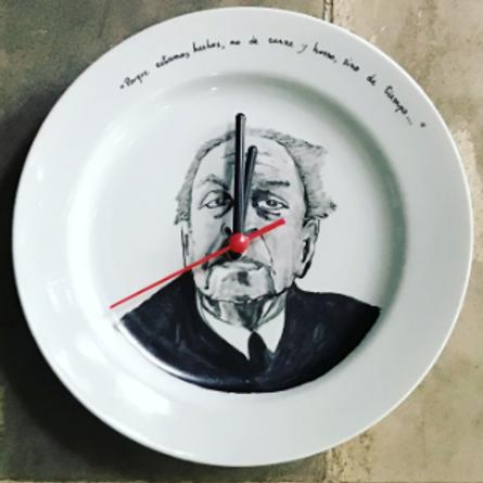 """Relógio Borges - Da série""""Relógios Filosóficos"""""""