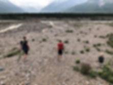 Black Rapids hike😁. Kids love to explor