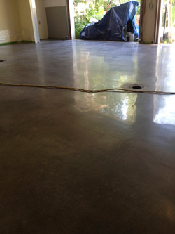Polished Concrete in a garage.