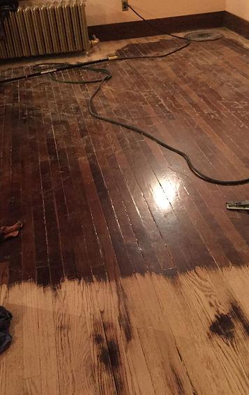 Wood Floor Being Sanded