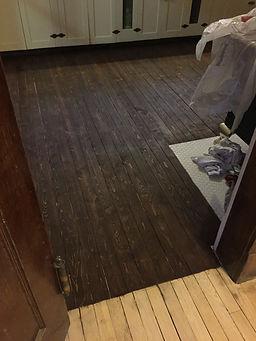 Wood Floor Sanding at Alaska Heritage House