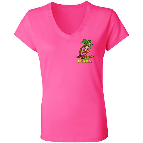 Pink Women's V-Neck T-Shirt
