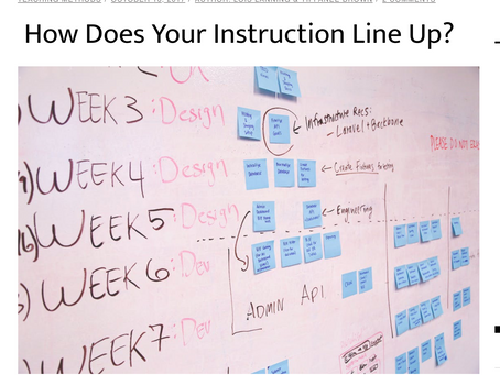 How does your instruction line up?