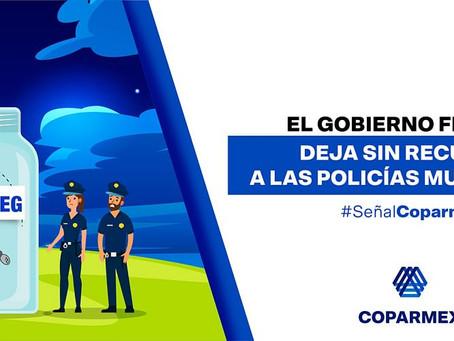 El Gobierno Federal deja sin recursos a las policías municipales
