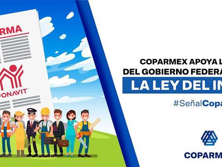 Coparmex apoya la propuesta del Gobierno Federal de Reforma a la Ley de Infonavit