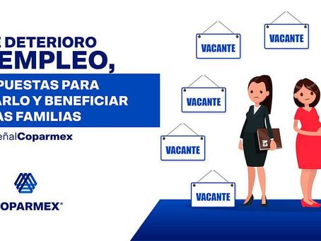 Ante deterioro del empleo, 4 propuestas para recuperarlo y beneficiar a las familias