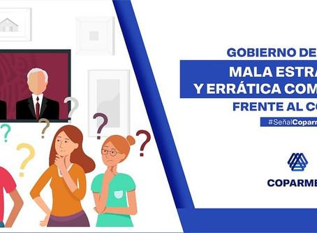 Gobierno de México mala estrategia y errática comunicación frente al Covid-19