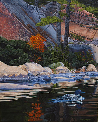 "Autumn Solitude - 20""x16"" Original Framed"