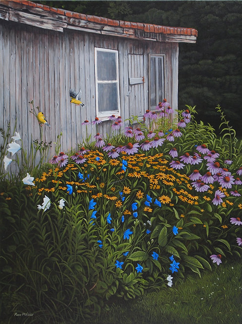 Touch of Gold - Wild Flowers & Gold Finches - Sold