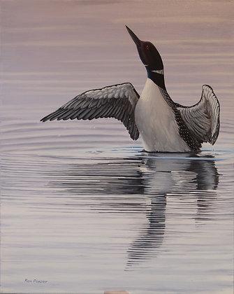 "Crowe Lake Loon 20""x16"" - SOLD -"