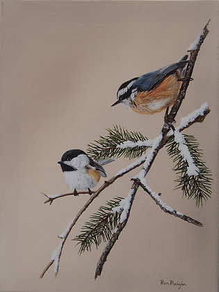 Feathered Friends - SOLD -