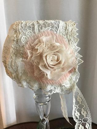 Soft Pink Rose Bonnet