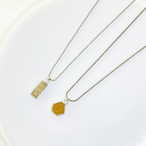 Necklace (Druzy)(Chains:40 cm)