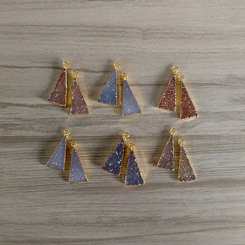 Triangle* druzy pairs