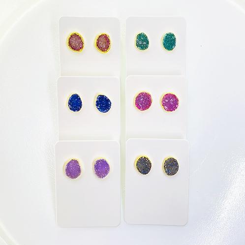 Druzy Stud Earrings (Freeform)