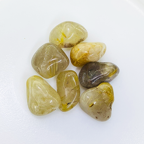 Rutilated Quartz Tumbled (100 grams/0.220 LB) or (1 Kg / 2.20 LB)
