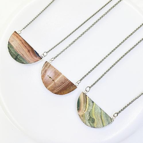 Necklace (Jasper) (Chains: 50 cm)