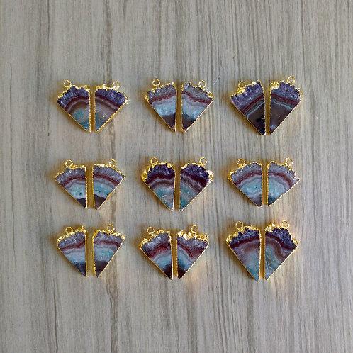 Amethyst Slice pairs (*Triangle*) (20 mm)