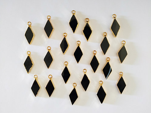 Diamond agate pendant (Black)*