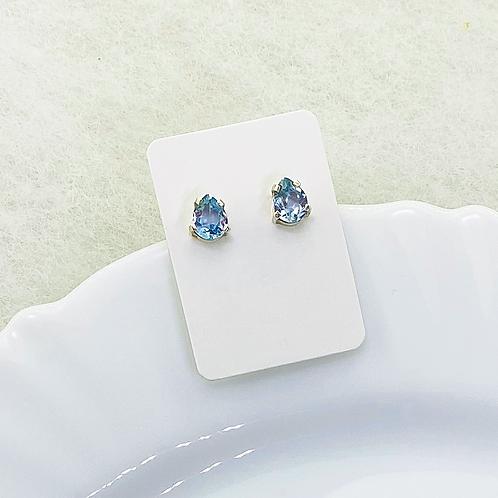 Stud Earring (Aquamarine)