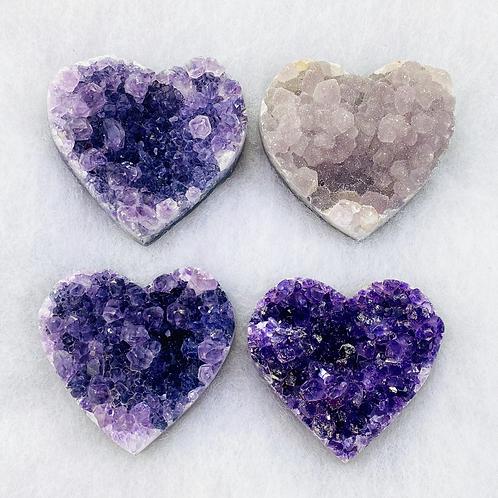 Amethyst/Druzy Hearts