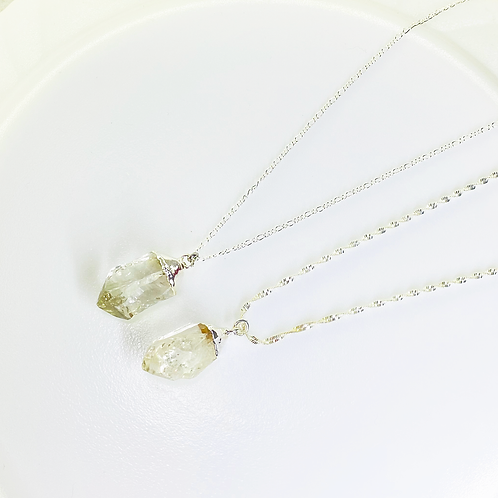 Necklace (Crystal Quartz)(Chains: 50 and 55 cm)