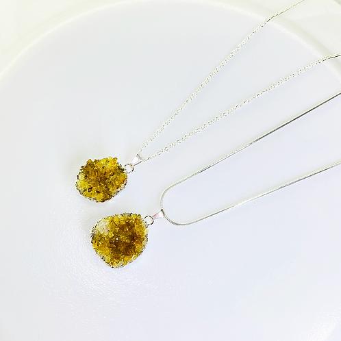 Necklace (Citrine)(Chains: 50 cm)