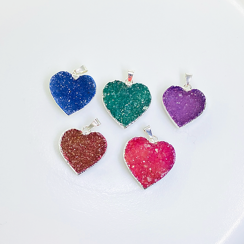 Heart Druzy Pendant