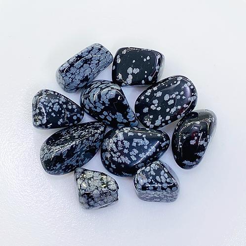 Snowflake Obsidian Tumbled (100 grams/0.220 LB) or (1 Kg / 2.20 LB)