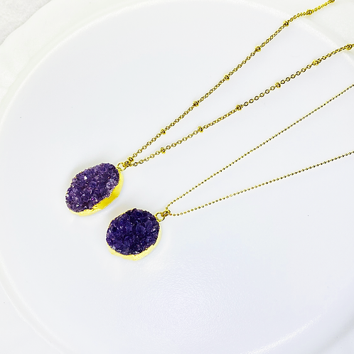 Necklace (Amethyst)(Chains: 50 and 55 cm)