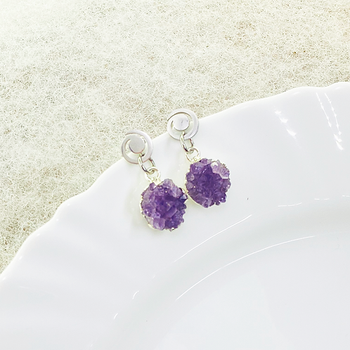 Earrings (Amethyst)