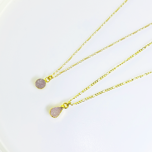 Necklace (Druzy)(Chains: 40 cm)