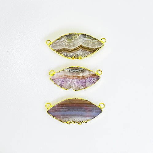 Amethyst Slice Connector (Marquis Shape)