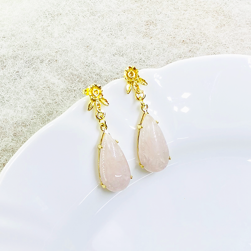 Earrings (Rose Quartz)