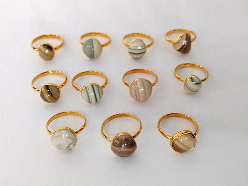 Jasper cabochon (irregular) ring (Sized)