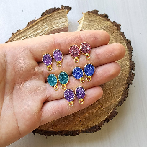 Druzy Stud (Freeform Rounded 8-12 mm)
