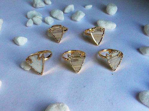 Jasper arrowhead ring (Sized)