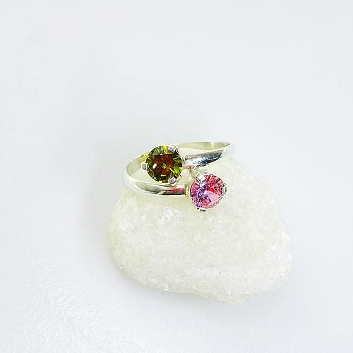 Ring (Green Tourmaline - Pink Tourmaline)