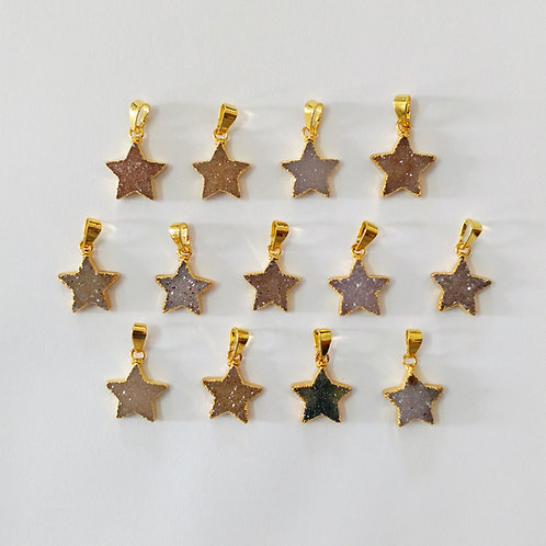 Star Druzy Pendant