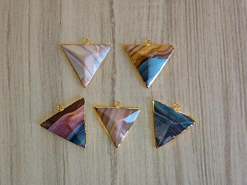 Jasper Triangle pendant