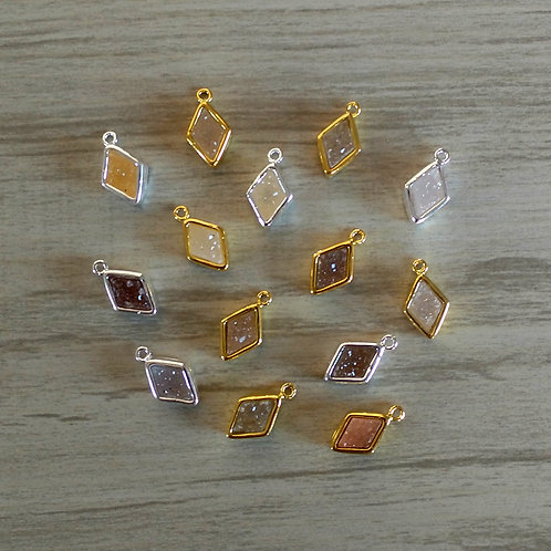 Diamond Druzy Pendant (9 mm)