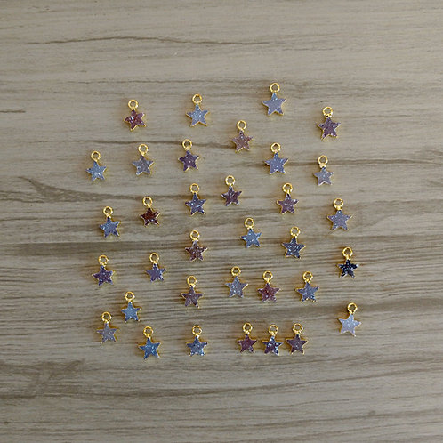 Tiny Star druzy pendant