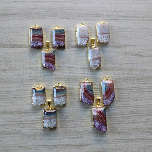 Amethyst Slice Set(Rectangle (Special cut))