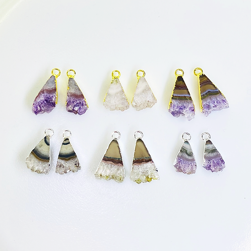 Amethyst Slice Pairs (Triangle shape)