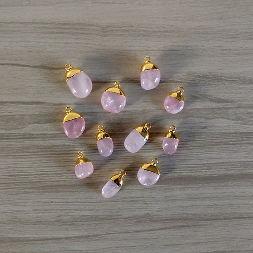 Tumbled Rose Quartz pendants