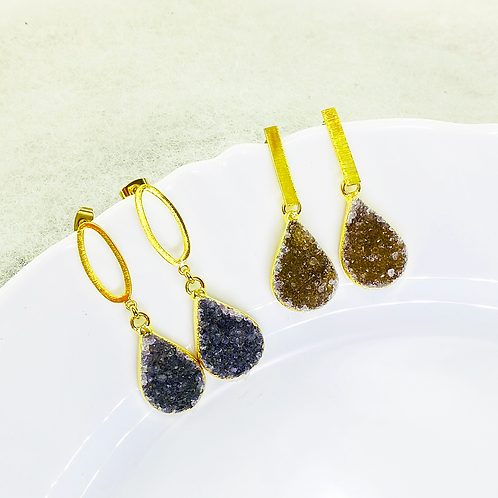 Earrings (Druzy)