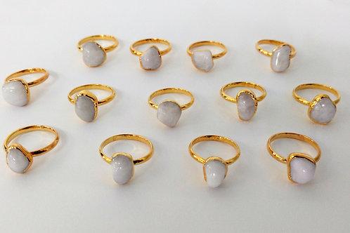 Tumbled Dolomite ring (Sized)